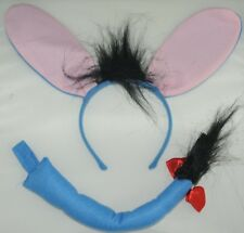 Donkey Ears and tail dress up costume FREE POST S68