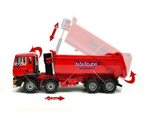KDW Red 1:50 Heavy Dump Truck Construction Equipment Die Cast Model Car 1/50