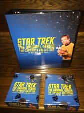 Two 2018 Star Trek TOS Captain's Collection Trading Card Boxes + Binder Album