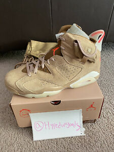 Air Jordan 6 Retro Travis Scott British Khaki DH0690200 Size 11 SHIPS NOW