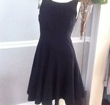 CALVIN KLEIN BLACK SLEEVELESS DRESS WITH FLARED BOTTOM SIZE -4P