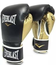 Everlast PowerLock Training Boxing Gloves - Gold/Black -16oz Gloves Great Cond.!