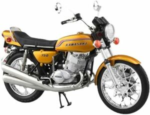 AOSHIMA 1/12 Scale Motorcycle Diecast Model Kawasaki 750-SS Сandy Gold