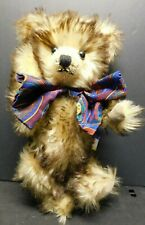 """Vintage 1989 Dean's Bear Mohair Jointed Teddy with Two Toned Fur 11"""" Uk!"""