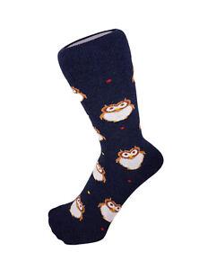 Women Boys Girls Animal Owl Design Novelty Funky Everyday Ankle Socks