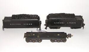 Lionel Postwar 2426W 2226W 12-Wheel Whistle Tender Shell Chassis (DAKOTApaul)