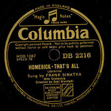 FRANK SINATRA  Homesick - that's all / Oh ! What it seemed to be   78rpm   S7792