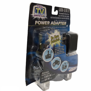 Universal Power Adapter 6V DC Jakks Pacific Plug It In and Play TV Games New