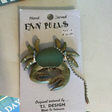 New Blue Crab Wooden Ceiling Fan Pull Chain
