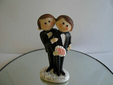 Cute Male Gay Same Sex Just Married  Cake Topper Civil Ceremony Wedding
