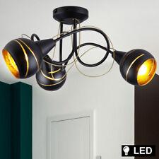 LED Design Plafonniers Verre Boules Noir-Or Spot Rondell Lampe