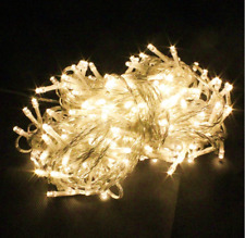 500 LED 52M Warm White String Fairy Lights On Clear Cable 8Light Modes Xmas