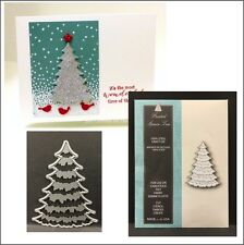 Frosted Spruce Tree metal die - Memory Box dies 99005 Christmas,trees,pine
