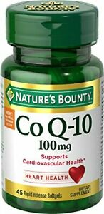 Nature's Bounty CoQ10, Rapid Release Softgels, 45 Count 45 (Pack of 1)