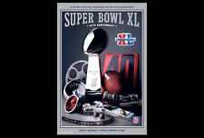 Super Bowl XL (Detroit 2006) Official NFL Football Event POSTER (Steelers Win)