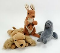 Lot of 3 TY Beanie Babies 1999 Slippery 1997 Spunky and 1996 Pouch VTG