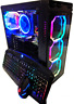 Custom Gaming PC Desktop - Ryzen 3200G 4.0Ghz, 16GB RAM, SSD+HDD, Win 10, WiFi