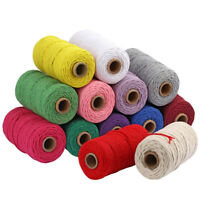100m/lot 3mm Woven Hemp Rope Cotton Macrame Cord Braided String DIY Making Craft