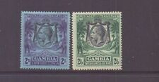 GAMBIA 1922 GV 2/- & 2/6 SG136-7 LMM CAT £35