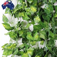 7.9ft 2.4m Artificial Leaf Ivy Vine Plant Fake Foliage Green 90 Leaves Hvine2951