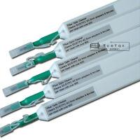 5 Pcs 2.5mm One-Click Optic Fiber Cleaners  SC,ST,FC Adapters Pen 800 Cleans