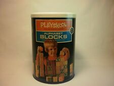Vintage Playskool Alphabet Blocks #3035  / CONTAINER ONLY  Classic American Toys