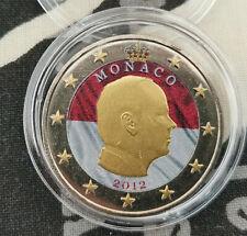 2 Euros Mónaco 2012 príncipe Alberto en color