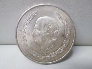 1953 Mexico silver Cinco Pesos Coin
