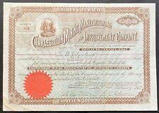 CHARLESTOWN MINING MANUFACTURING & IMPROVEMENT Stock 1893 Ranson Jefferson Co WV