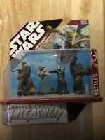 Star Wars Battle Packs Unleashed Kashyyyk Warriors Yoda Hasbro New Sealed