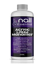Nail Sculpting Acrylic Liquid Monomer Salon Quality Superior Adhesion 250ML