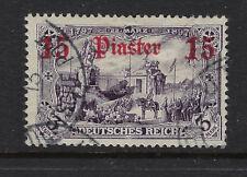 GERMAN POST OFFICES IN TURKEY:1905 15p on3m violet-black SG45 used
