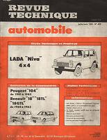 RTA revue technique l'expert automobile n ° 435 LADA NIVA 4X4