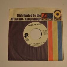 """ROLLING STONES - Ain't too proud to beg - 1974 US 7"""" PROMO SAMPLE MONO/STEREO"""