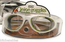 RSVP Onion Goggles with Case - White Frame - Anti Fogging TEAR FREE - NEW