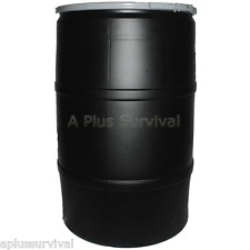 55 Gallon Water Food Storage Drum with Removable Lid Camping Survival Emergency