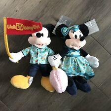 Walt Disney World 2020 Park Life Mickey Pennant & Minnie Plush Set NWT