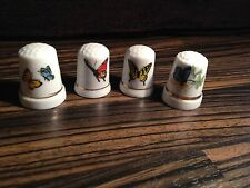 Thimbles - Set of 4, Butterflies - Made in Britain (b31)