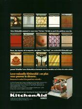 Publicité ancienne lave vaisselle KitchenAid 1974 issue de magazine