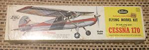 Guillow's Cessna 170  Flying Model Kit #302 Plane Balsa Wood Unopened Box