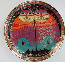 1995 Laurel Burch Cat Plate Friendly Felines Franklin Mint Heirloom Aa1624