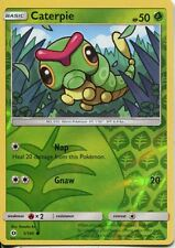 Pokemon Sun & Moon TCG Card 001/149. Caterpie Reverse Holo