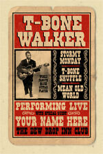 your name on a personalized concert poster with T Bone Walker