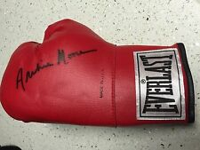 ARCHIE MOORE d.1998 SIGNED LEATHER Everlast Boxing Glove,HALL OF FAME GREAT