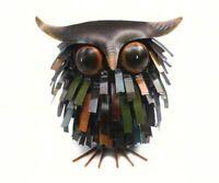 Spikey Owl Sculpture - Handcrafted Metal Owl Sculpture  - GEBLUEA228