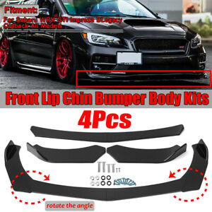 Front Bumper Lip Splitter Spoiler For Subaru WRX STI Impreza BRZ Legacy Outback