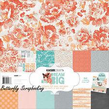 DREAM BIG Collection 12X12 Scrapbooking Kit Kaisercraft Paper Crafts NEW