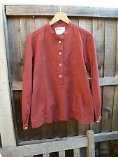Margaret Howell shirt, cotton, rust with fine black check, size S