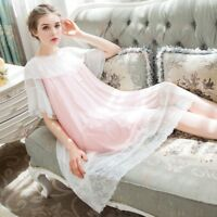 Lady Vintage Victorian Nightdress Lolita Nightgown Sleepwears Ruffle Sheer Fairy