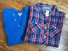 RUUM Long Sleeve Shirt Boy M(10) NEW w/tags + Blue Hooded Sweater